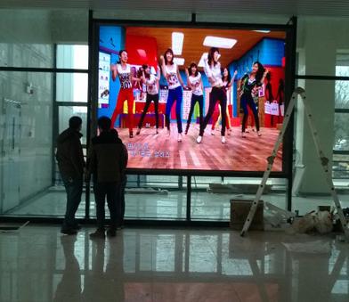 购物商场P4全彩显示屏形象墙